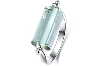 Genuine Green Amethyst Ring by Peermont