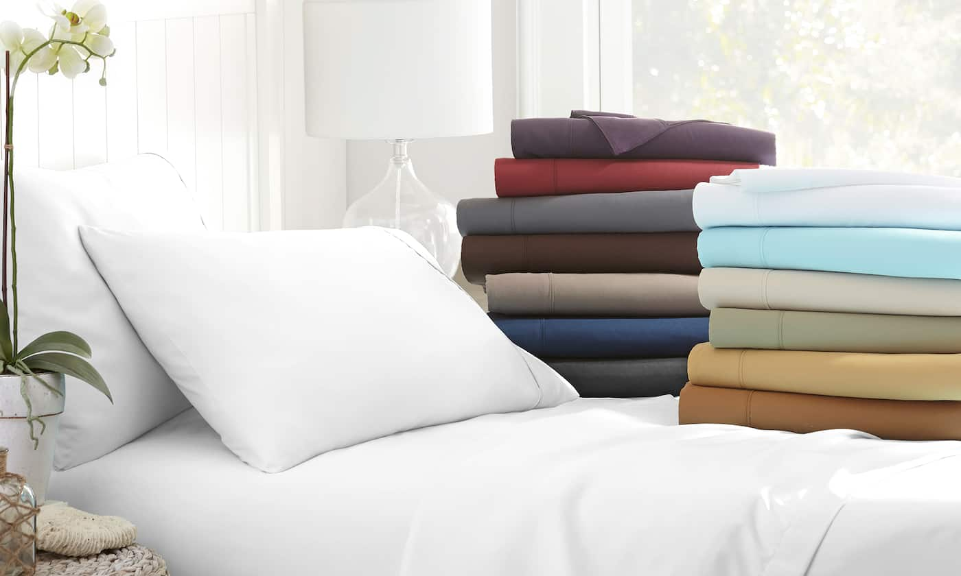4-Piece Deep-Pocket Merit Linens Microfiber Sheet Set