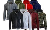 2-Pack Galaxy by Harvic Men's Slim-Fit Fleece-Lined Zip Hoodie (S-2XL)