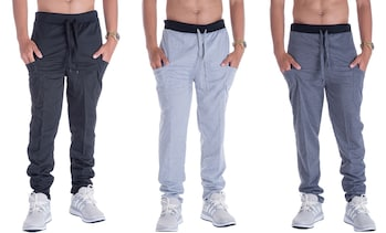 LeeHanTon Men's Joggers with Large Side Pockets
