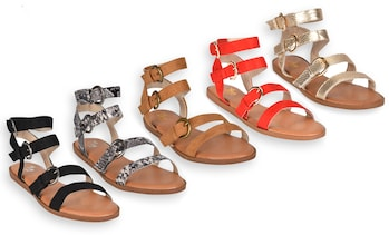 Olive Street Krystal Three-Band Comfort Sandal | Groupon Exclusive