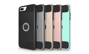 Waloo Dual-Layer Carbon-Fiber Case for iPhone 7/8 or iPhone 7/8 Plus