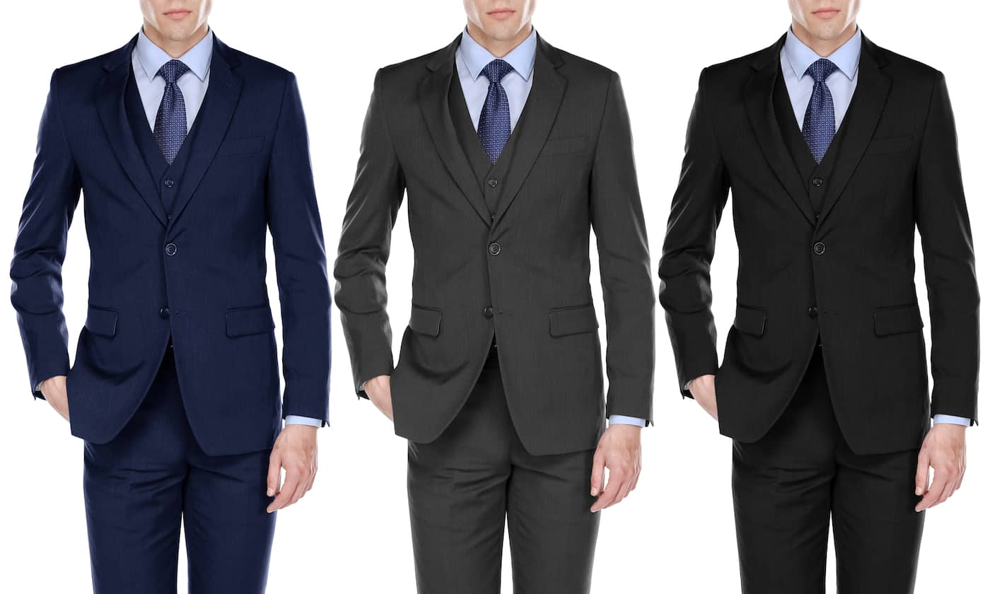 Fino Uomo Men's Light Herringbone Classic-Fit Suits (3-Piece)