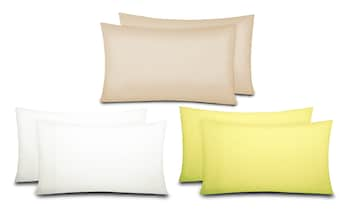 Sun Washed 100% Cotton Percale Weave Pillowcases (2-Piece)